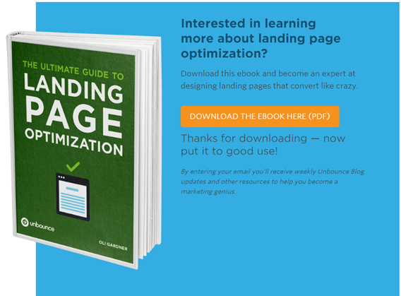 Unbounce Thank You Page Old