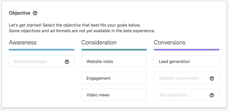 Linkedin ad targeting screenshot