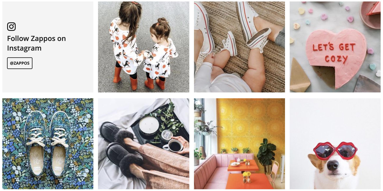 Zappos Instagram posts
