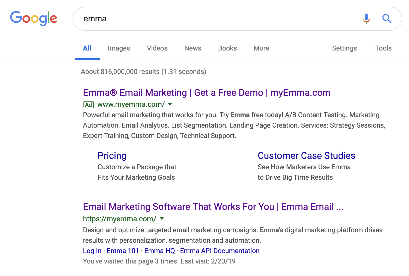 b2b search ad example