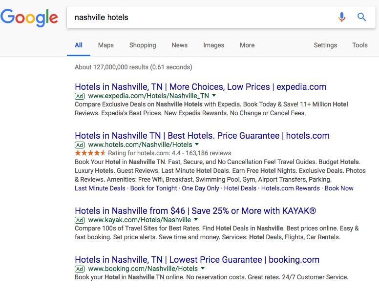 PPC Google Search Ad