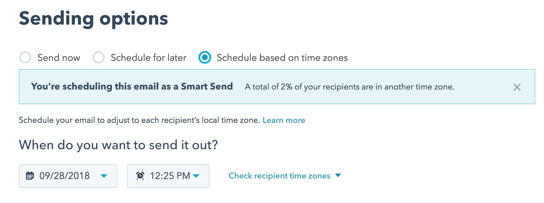 Hubspot Email Scheduling