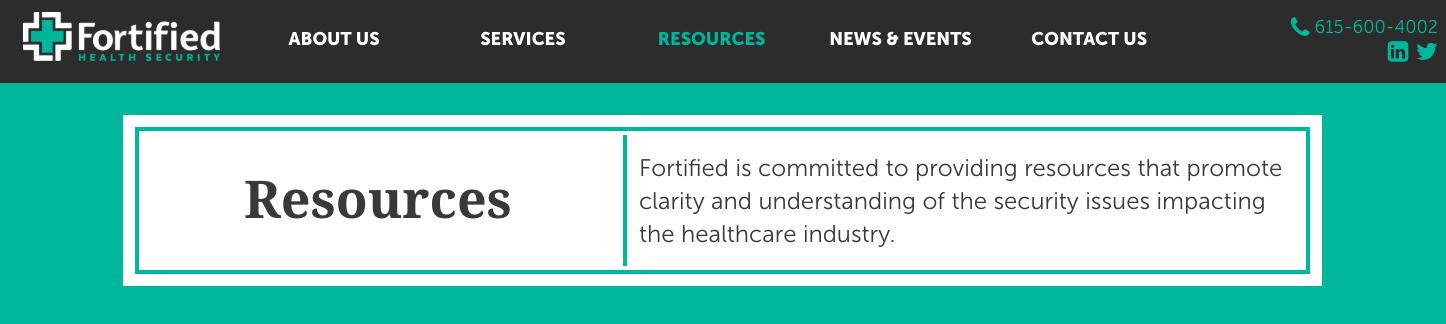 fortified health securities website