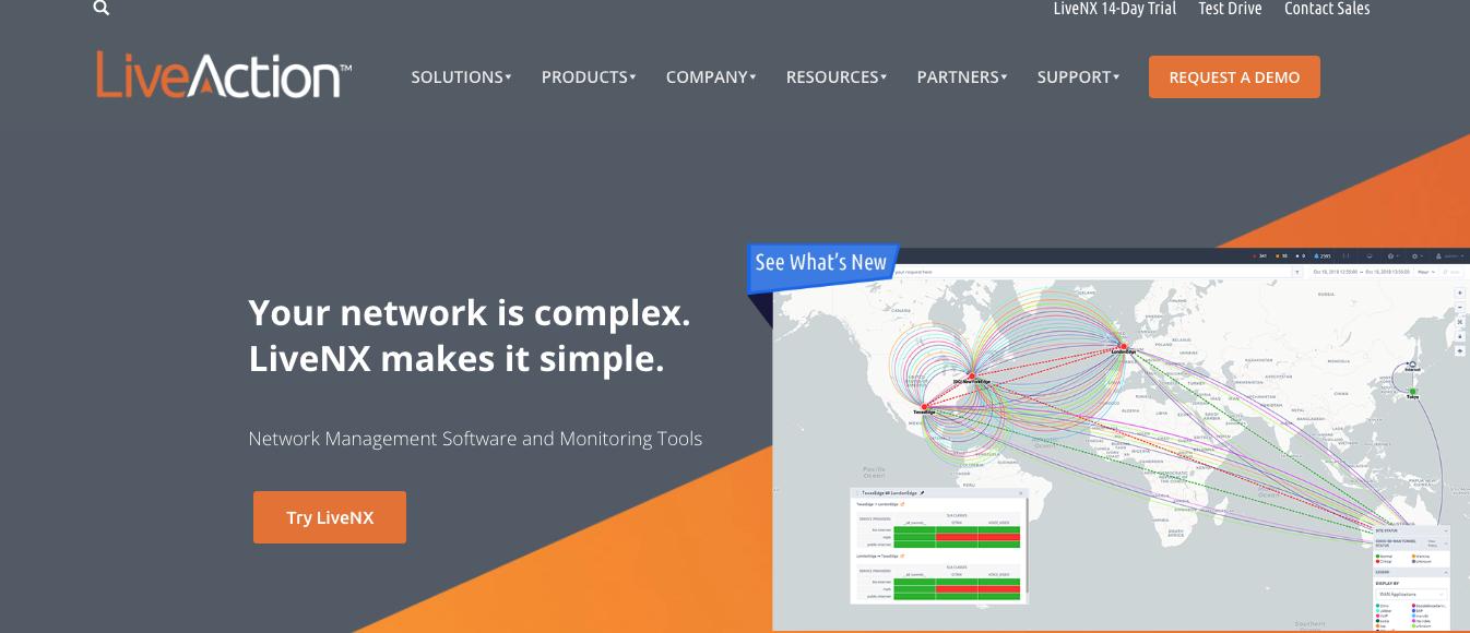 LiveAction website