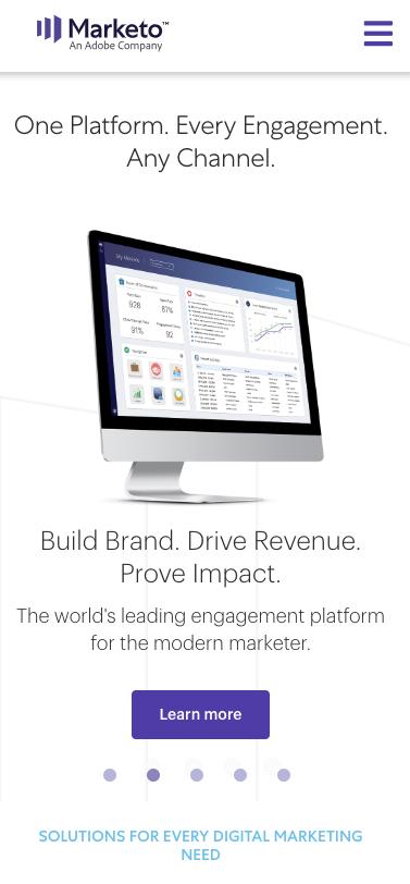 Marketo new website
