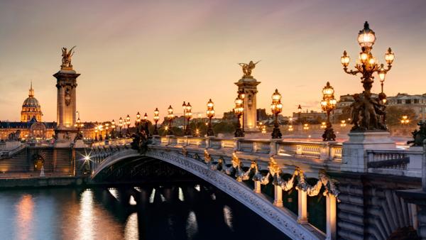 Paris at Night Bridge