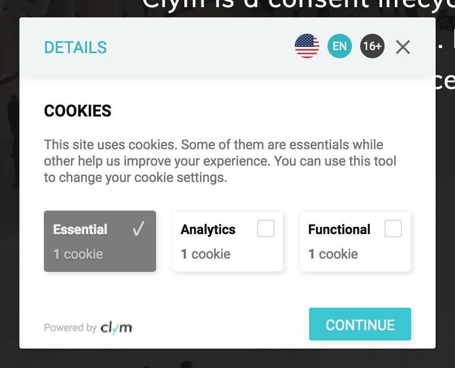 GDPR - Custom Cookie Consent