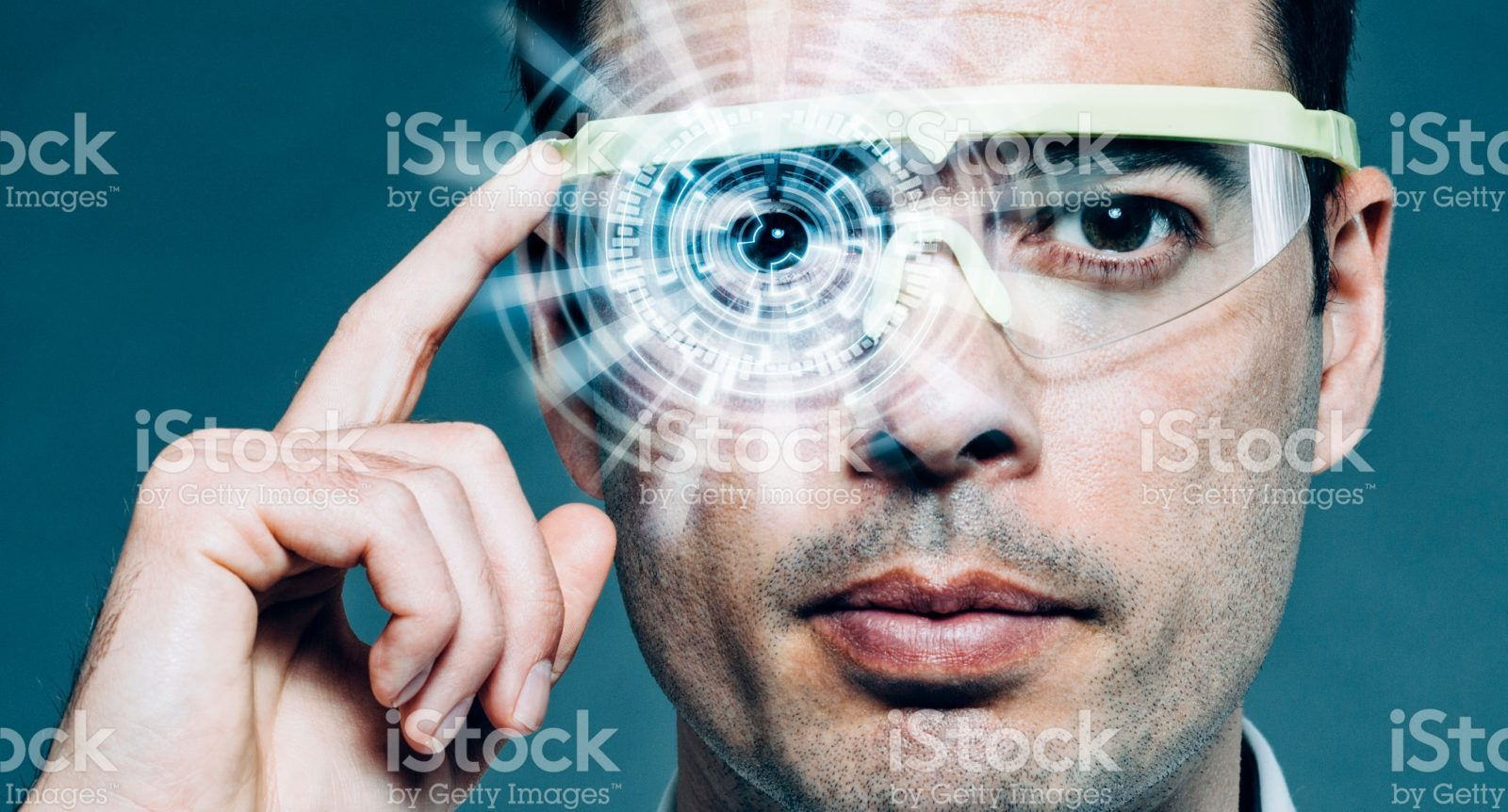 Man uses wearable technology