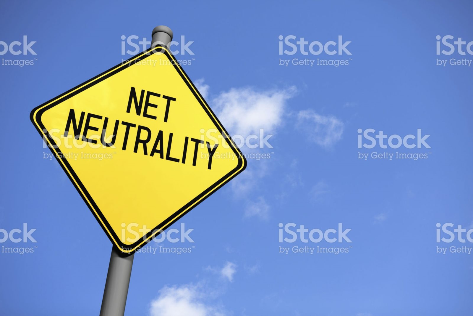Caution sign that says Net Neutrality