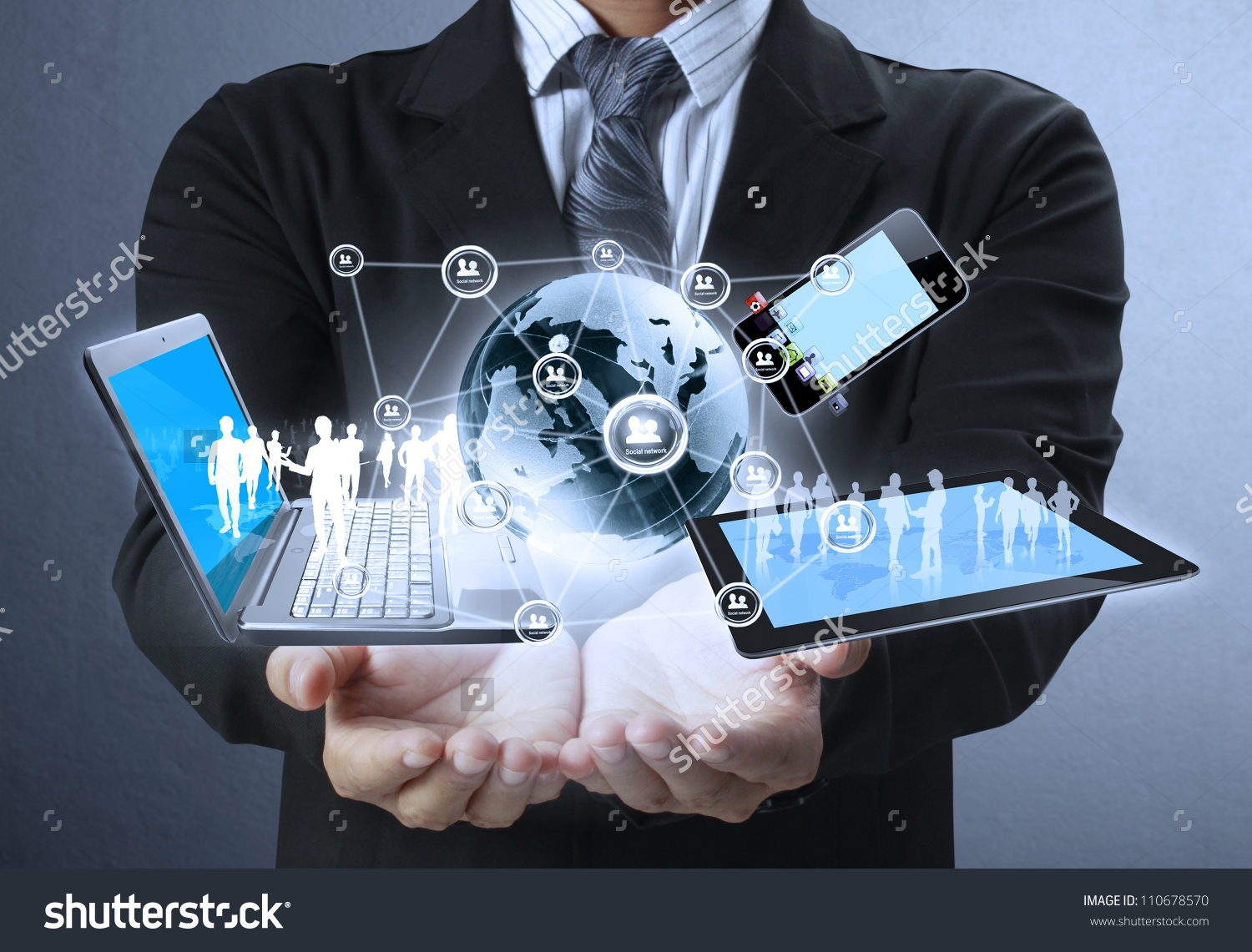 Internet of Things in the hands of a business person