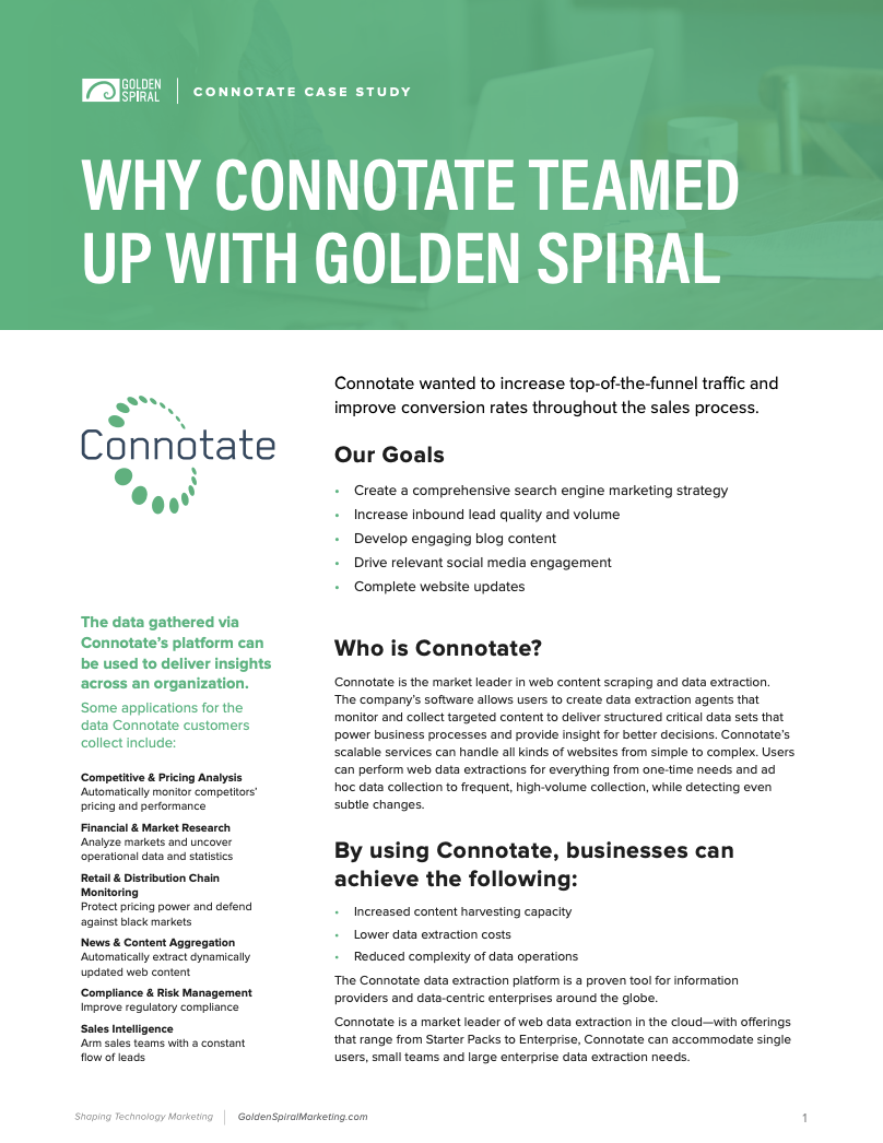connotate golden spiral partnership