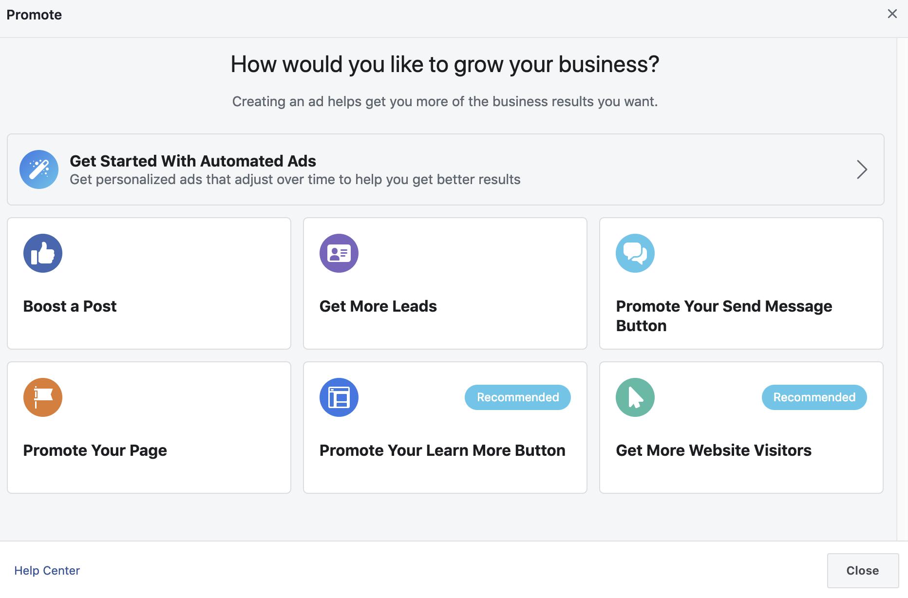 Facebook ad targeting screenshot