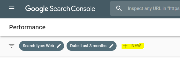 New Google Search Console interface