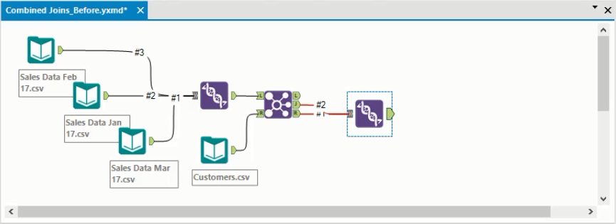 Alteryx Outer Join with Union tool