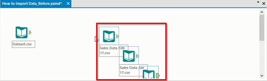 Alteryx input data canvas