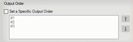 Union tool output order