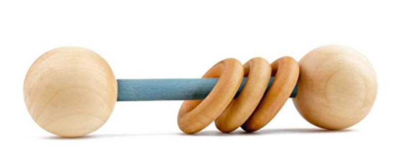 organic wood rattle