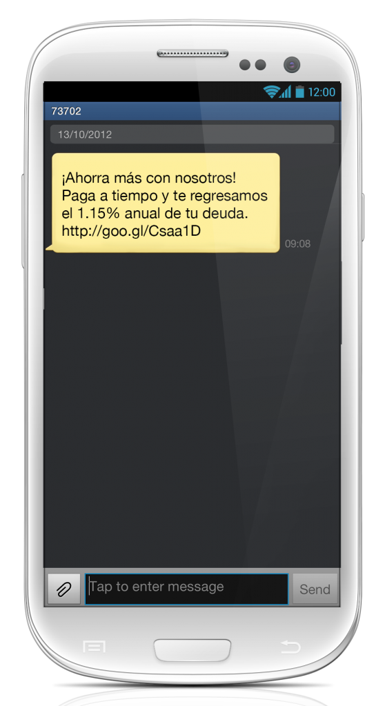 Ventajas de utilizar SMS con urls cortos.