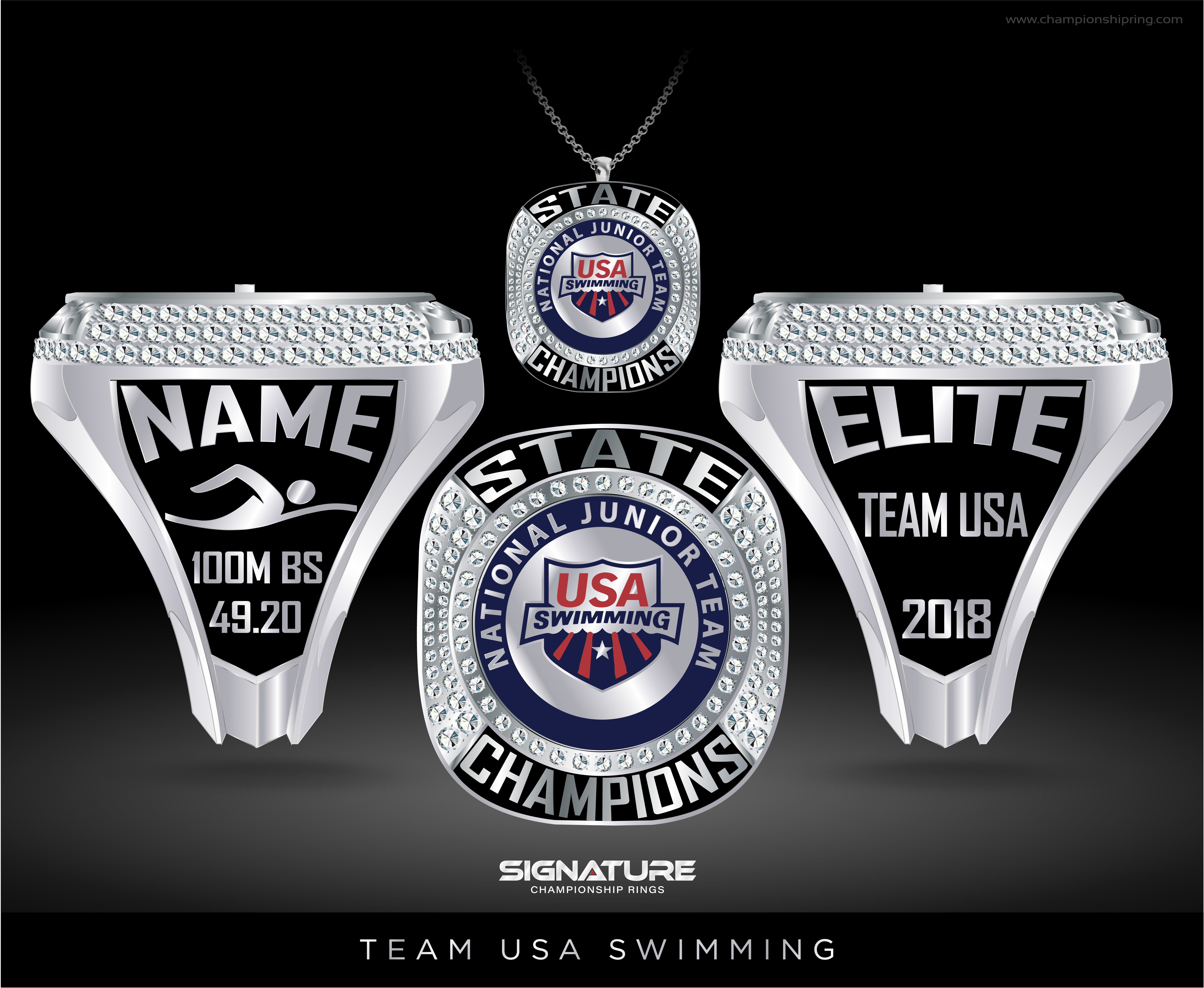 Championship Ring Design Studio: Swimming and Diving