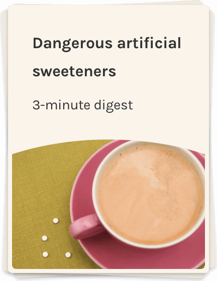 Artificial sweeteners and a cup of coffee