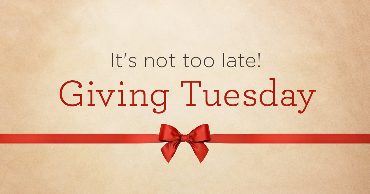 thumbnail image for If You Missed Giving Tuesday, It's Not Too Late!