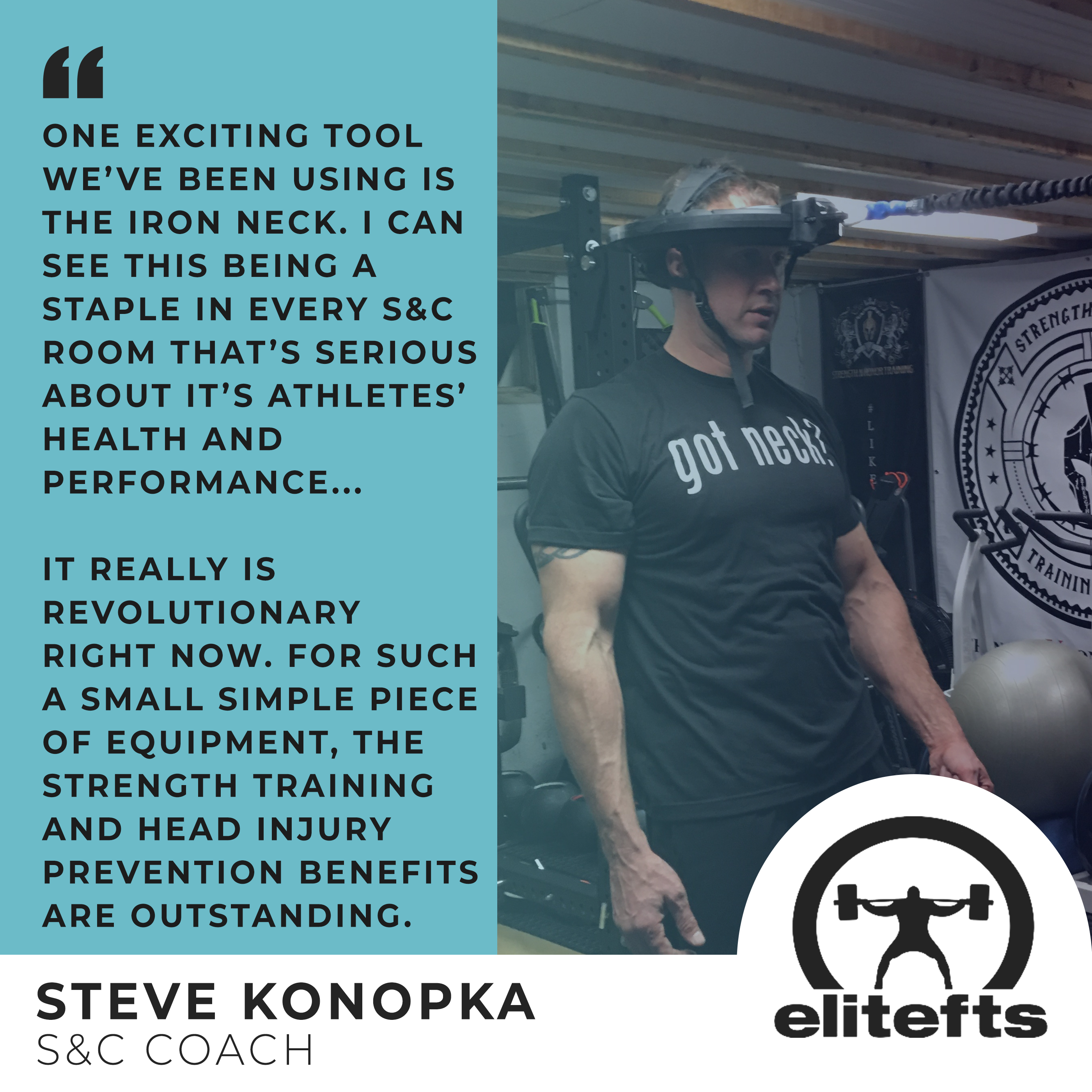 EliteFTS Steve Konopka Quote