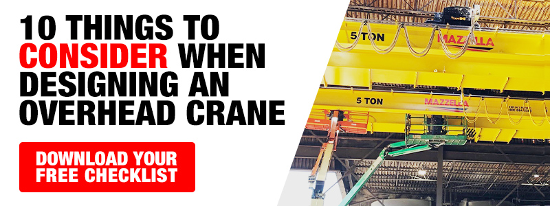 10 Things to Consider When Selecting an Overhead Crane