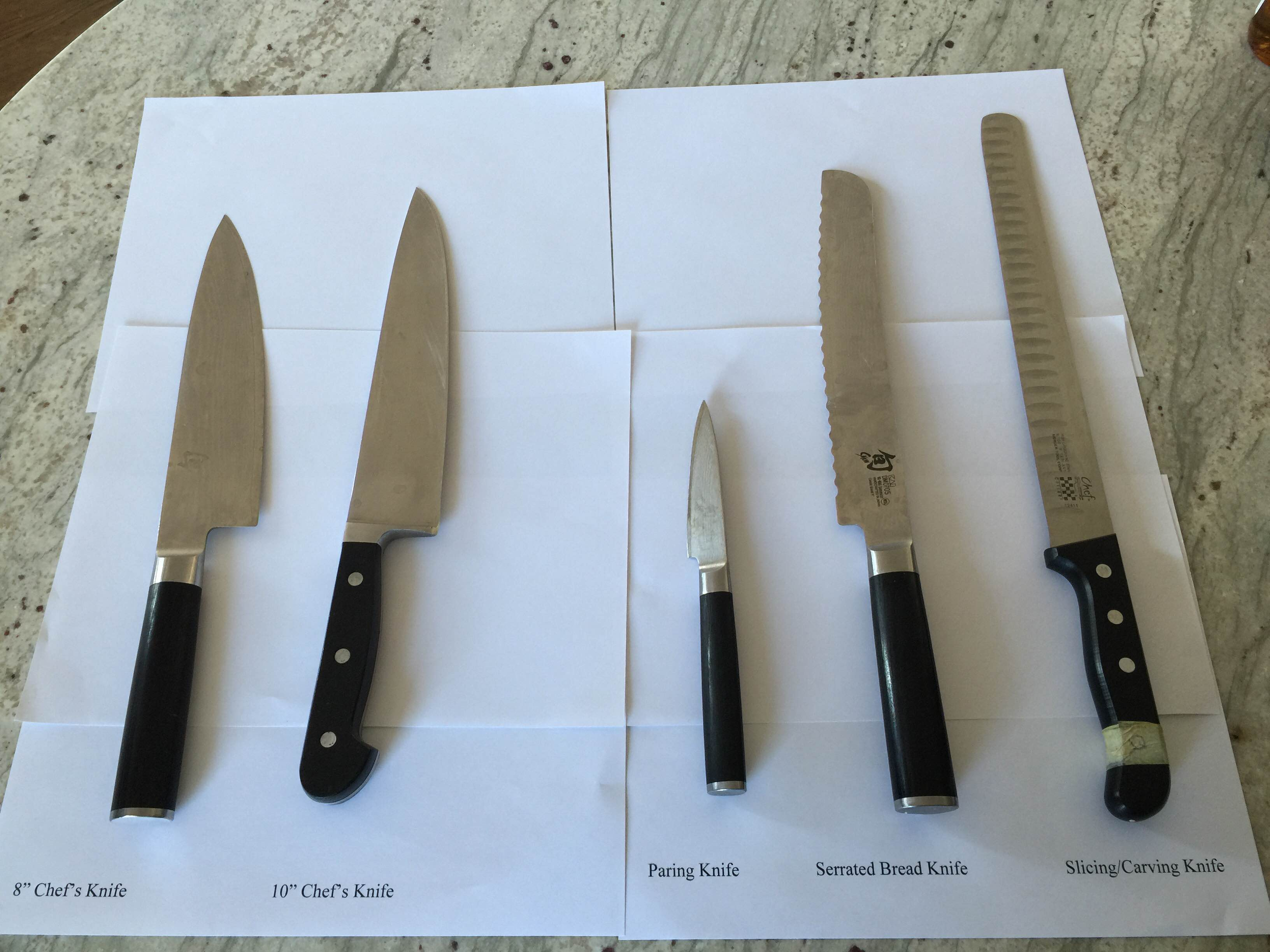 the only four knives you need in your kitchen