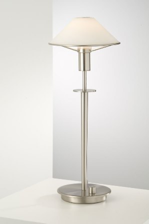 Holkoetter's table lamp directs light to where it's most needed.