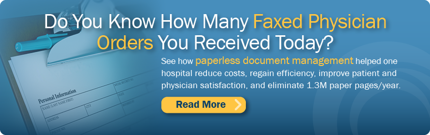 faxed physician orders