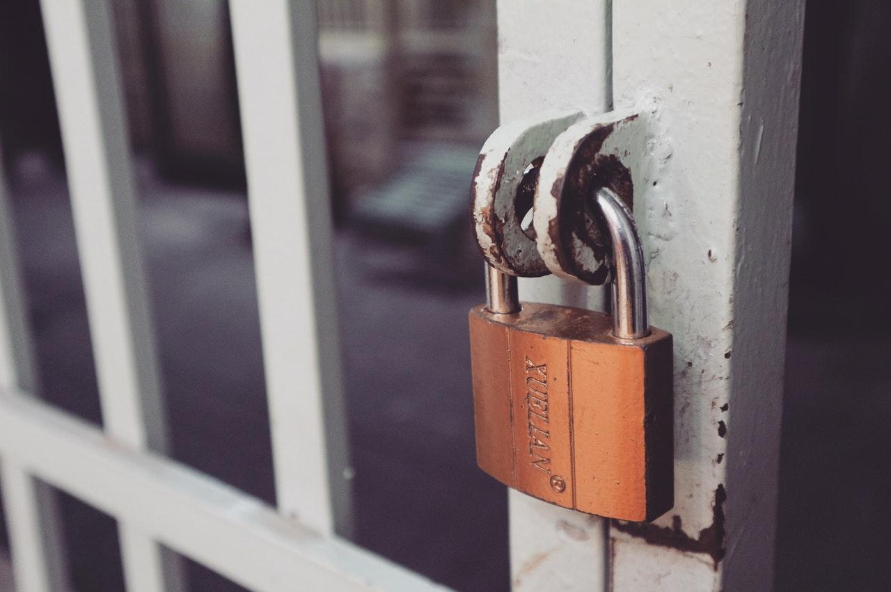iron gate with lock