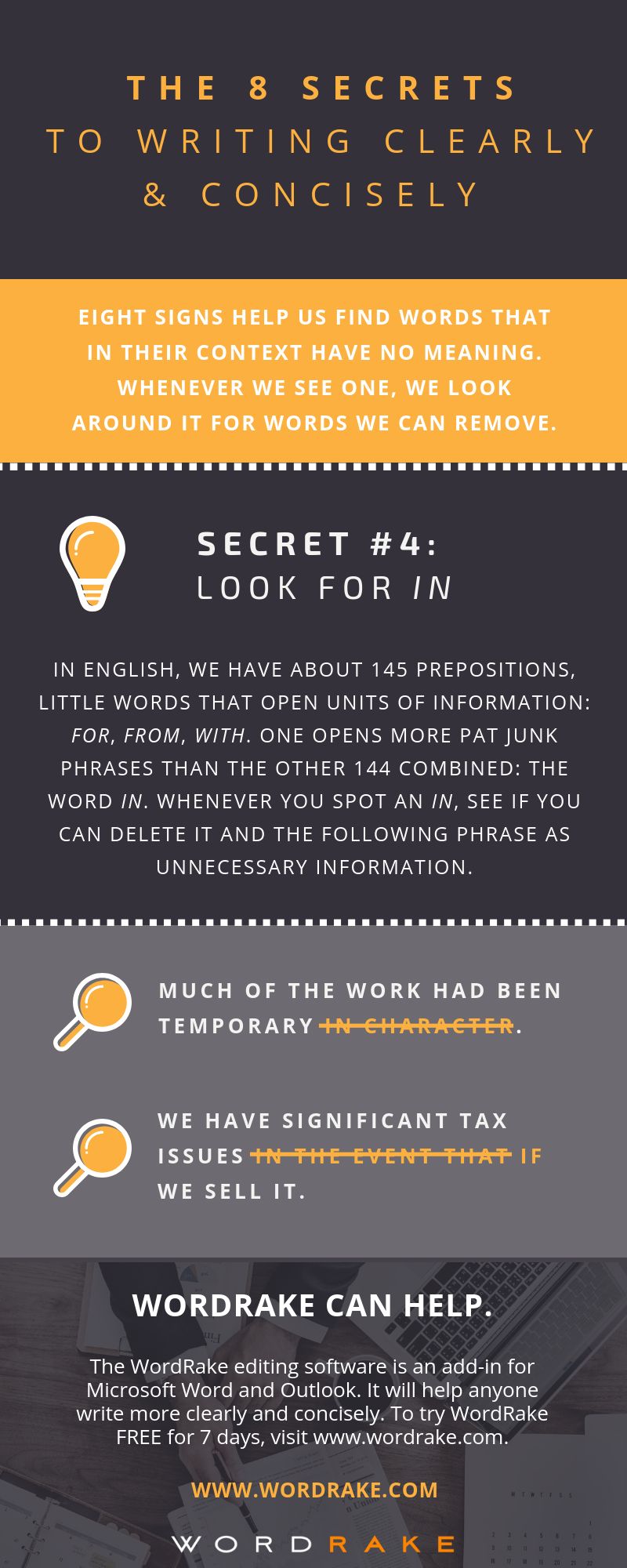 Writing Secret #4: Look for In