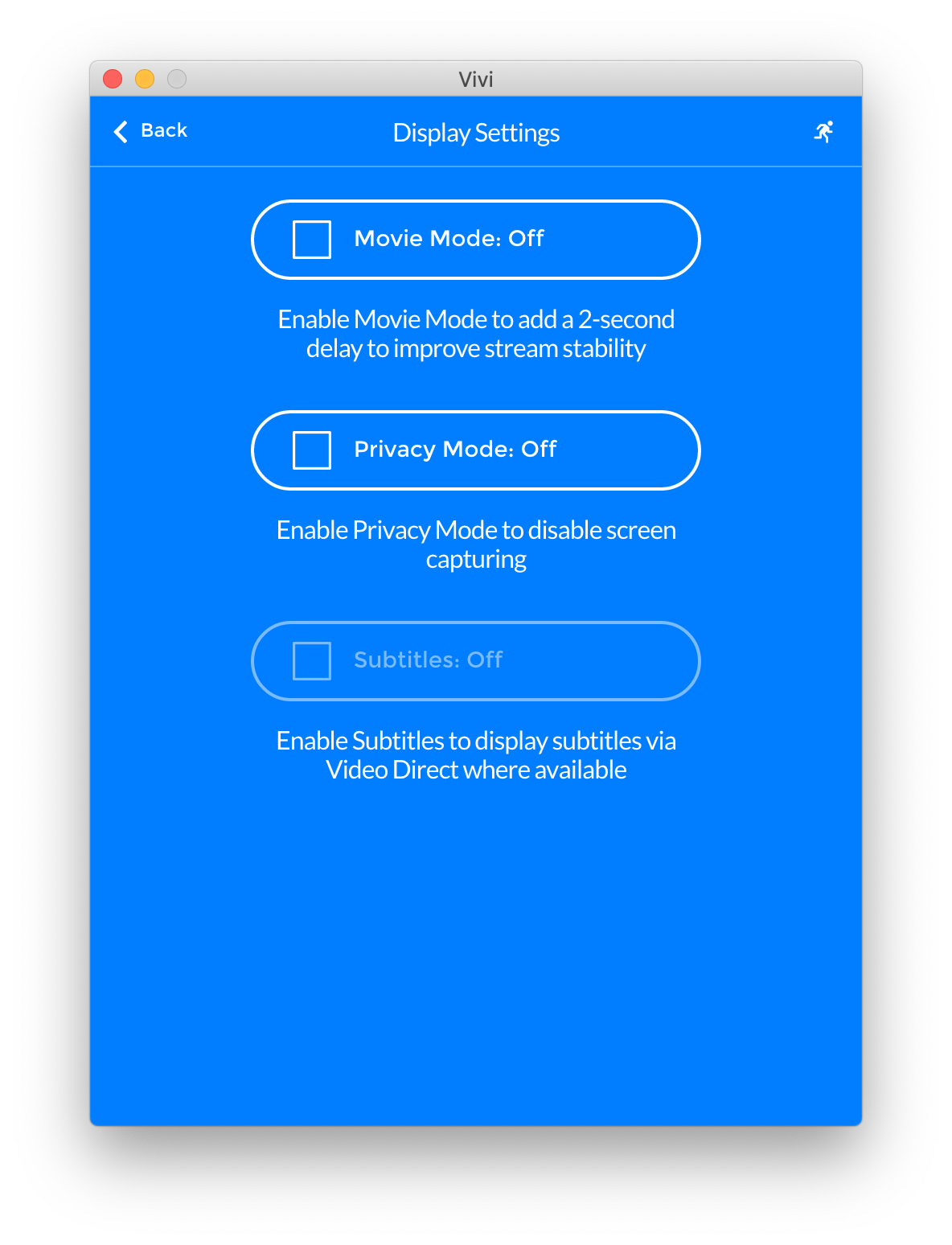 Updates to Privacy Mode in the Vivi App