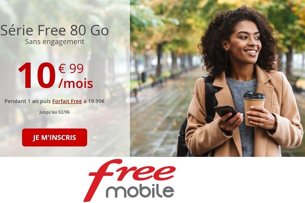 Forfait Free : une nouvelle série limitée avec 80 Go à seulement 10,99€/mois