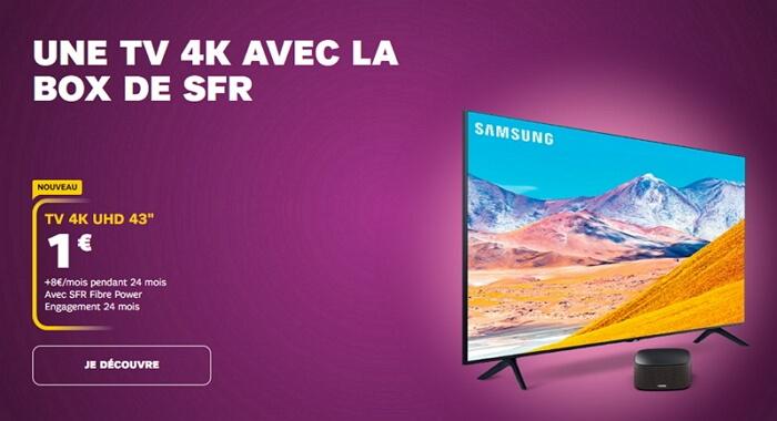 L'offre Box SFR avec TV connectée incluse à partir de 1 euro