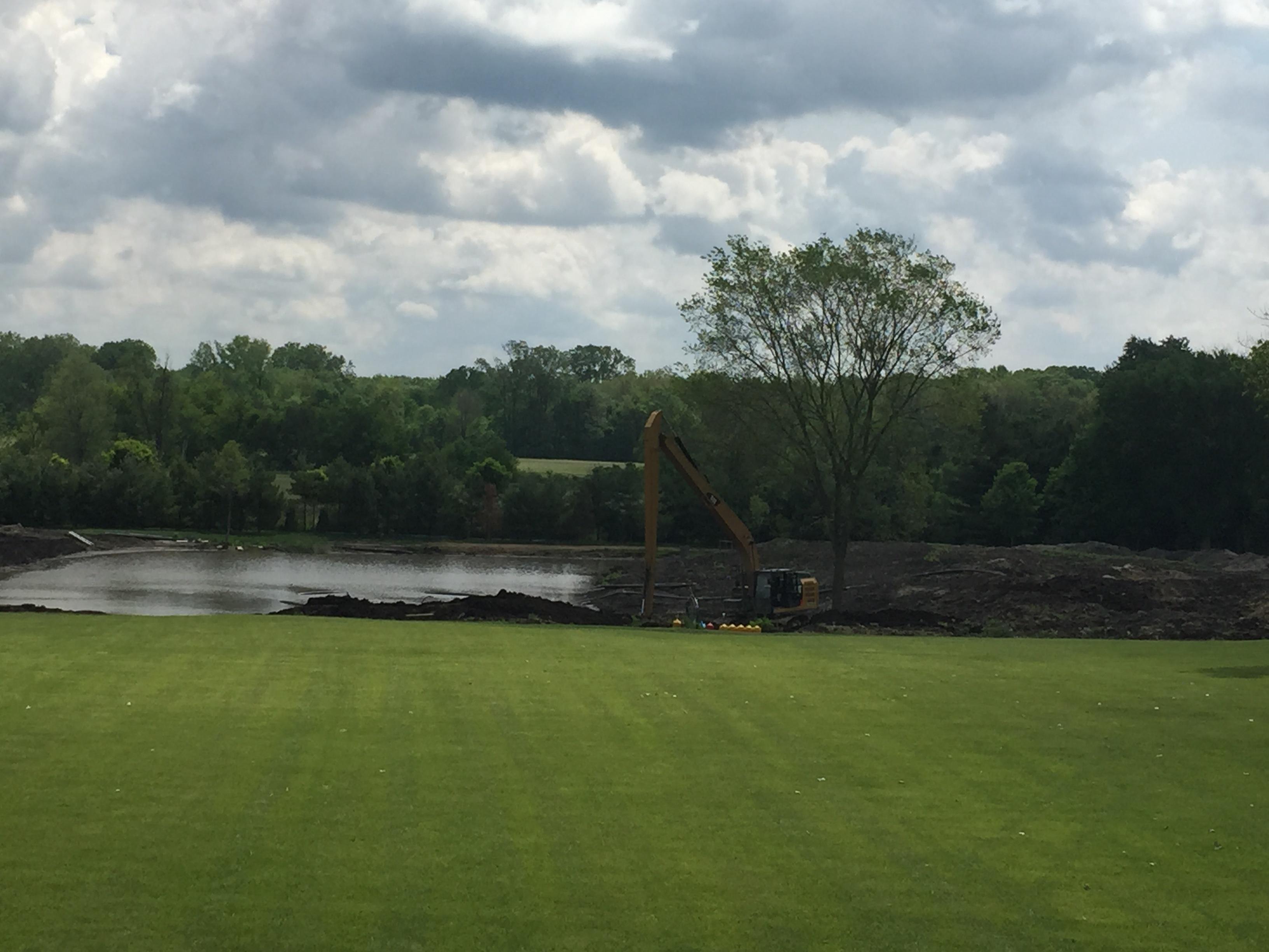 Fish Pond Excavation Plymouth Michigan