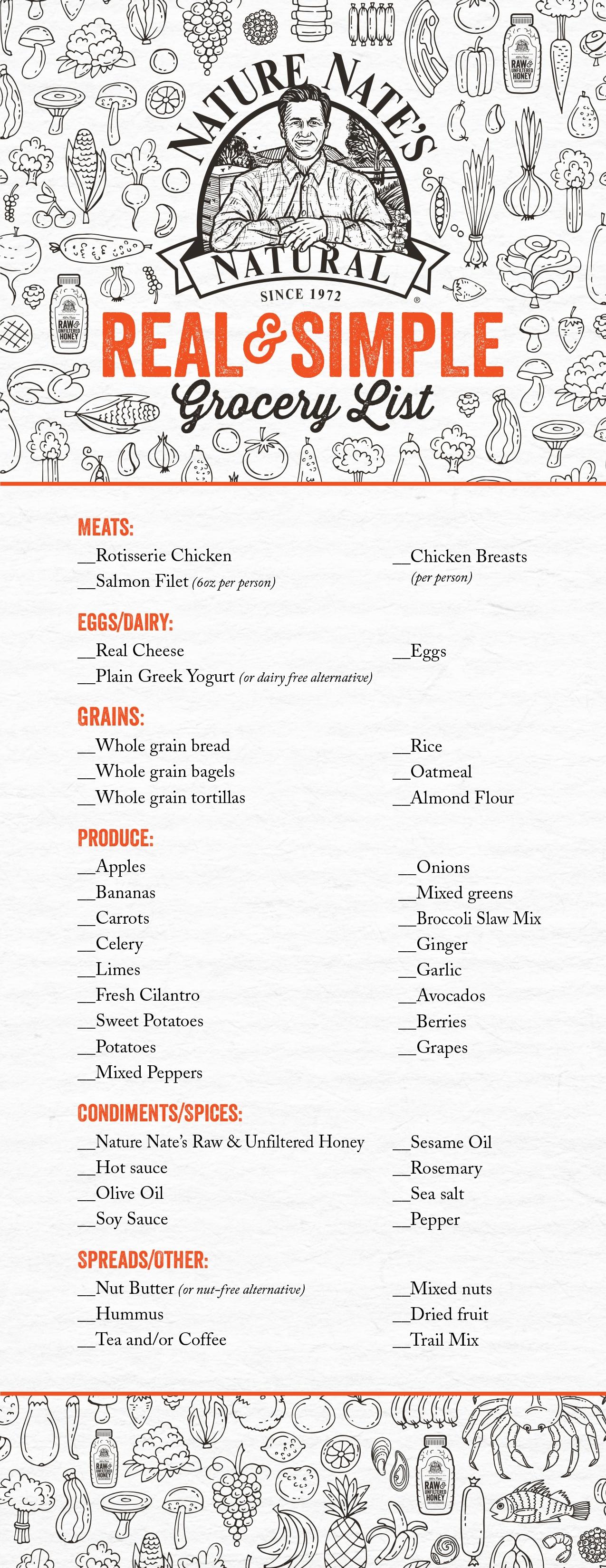 Choose Real Simple Food - Nature Nate's