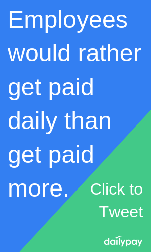 Click to tweet button: Amazon employees would rather get paid daily than get paid more.