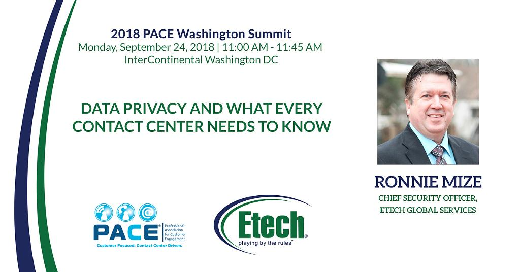 Ronnie Mize is an expert on call center compliance. He recently presented on the topic at the 2018 PACE Washington Summit.