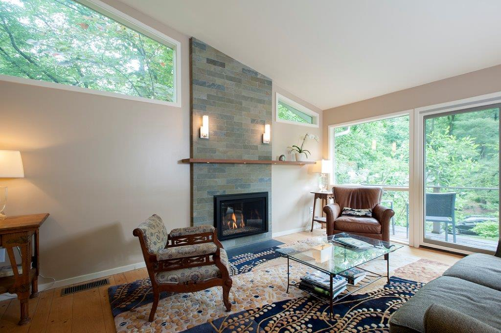 Custom Fireplace and Floating Shelves for a Carderock Springs Home
