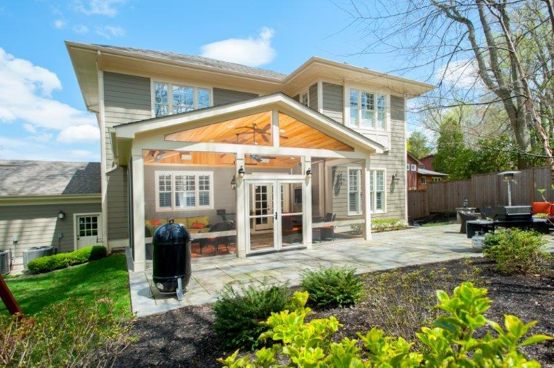 Craftsman Style Screened Porch With