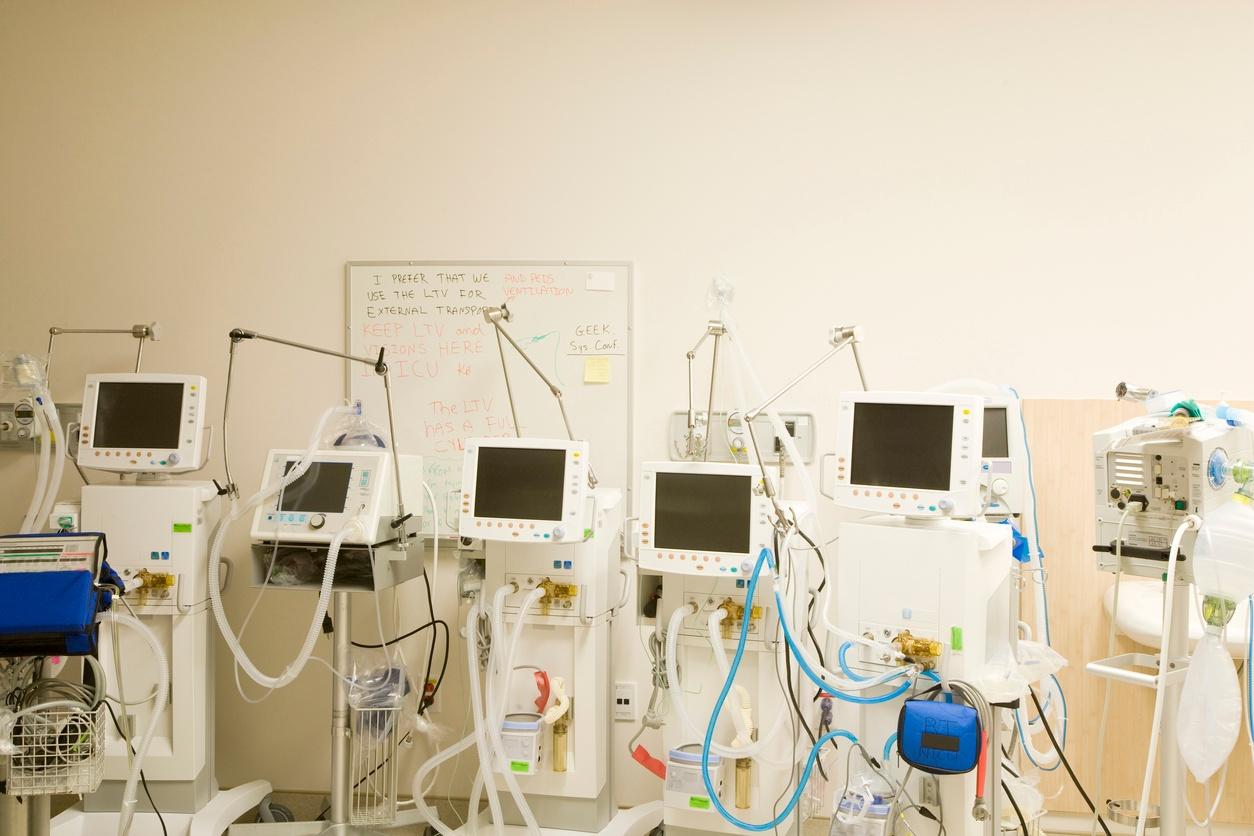medical equipment in storage