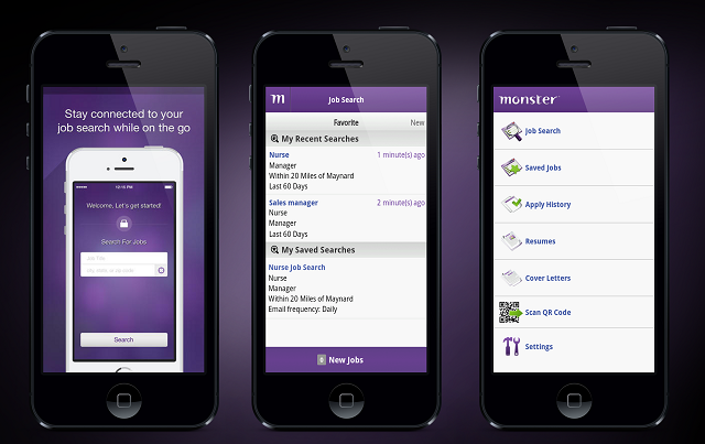 Cool Mobile App Design. Job Searching Apps