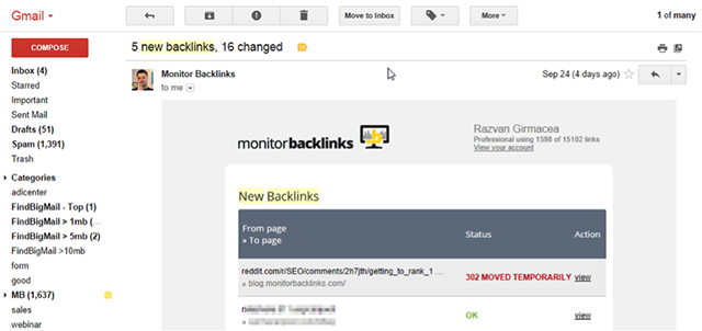 Monitor Backlinks - the perfect SEO tool for tracking your