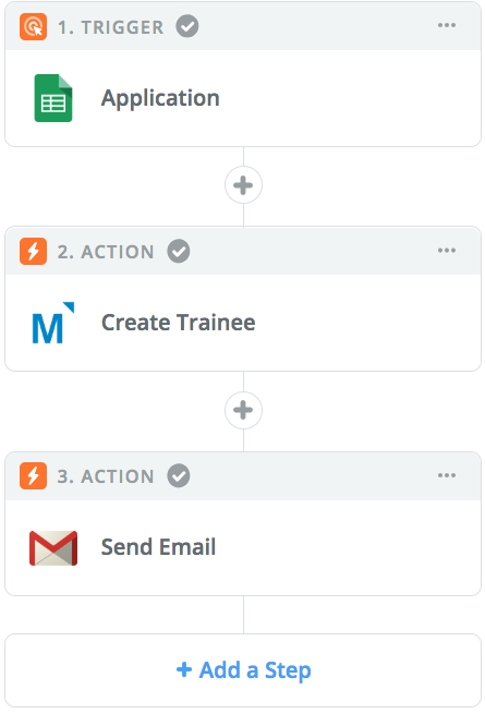 zapier and mindflash workflow