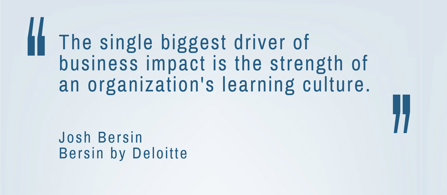 Business Impact of a Learning Culture Quote