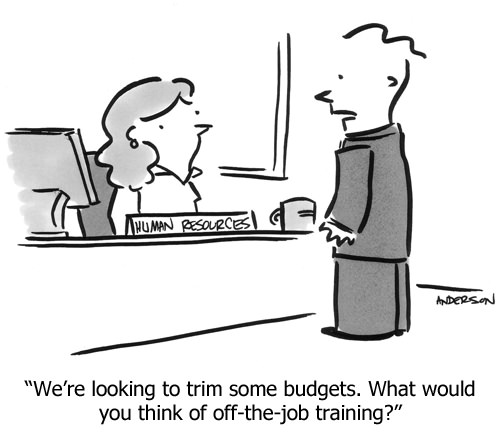 Cartoon We Re Looking To Trim Some Budgets What Would You Think