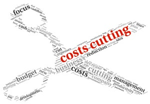 Costs cutting concept