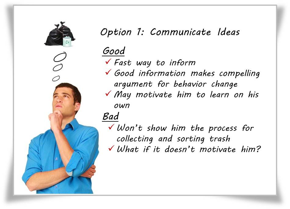 Are You Training for Ideas or Actions?