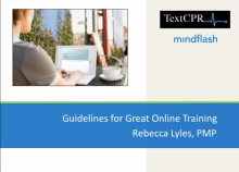 Create Great Online Training